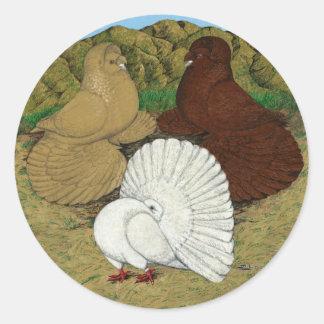 Pigeon Combo Round Sticker