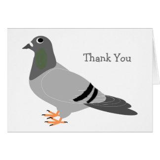 Pigeon Design Thank You Card