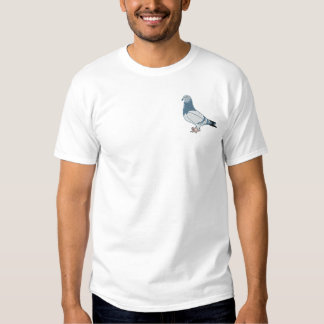 Pigeon Embroidery Art Design Embroidered T-Shirt