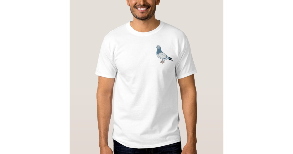 Pigeon embroidery art design embroidered t shirt zazzle