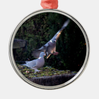 Pigeon flying ornament
