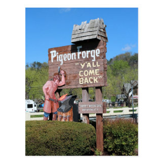 Pigeon Forge Tennessee Sign Postcard