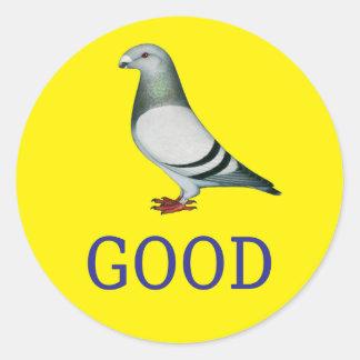 Pigeon-GOOD! Round Sticker