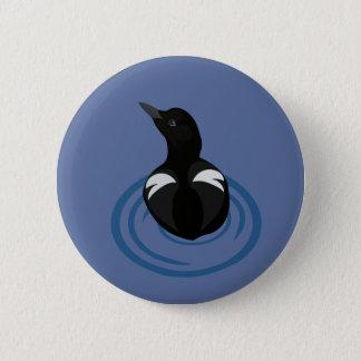 Pigeon Guillemot Vector Art Button