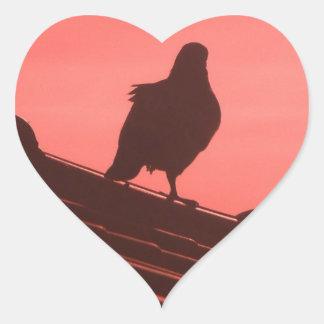 pigeon heart sticker