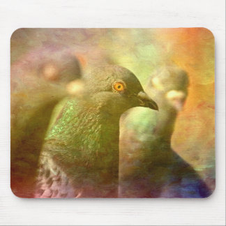 Pigeon impressions mouse pad