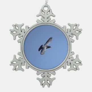 Pigeon in Flight Christmas Ornament