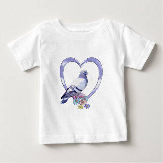 Pigeon in Heart Baby T-Shirt