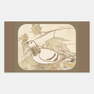 Pigeon In the Woods Rectangular Sticker