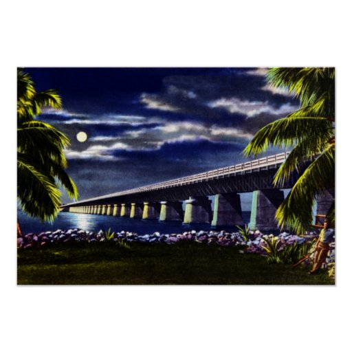 Pigeon Key Florida Overseas Highway Poster