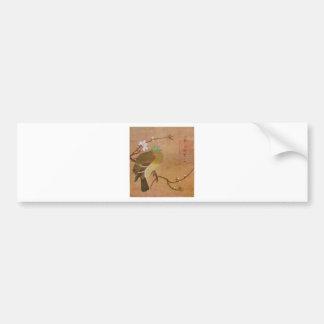 Pigeon on a Peach Branch by Emperor Huizong Bumper Sticker