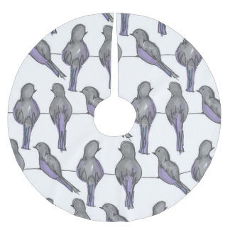 Pigeon Pals Print Brushed Polyester Tree Skirt