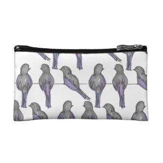 Pigeon Pals Print Cosmetic Bag