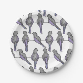 Pigeon Pals Print Paper Plate