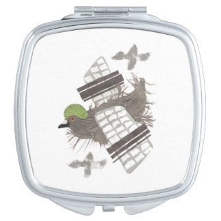 Pigeon Plane Compact Mirror