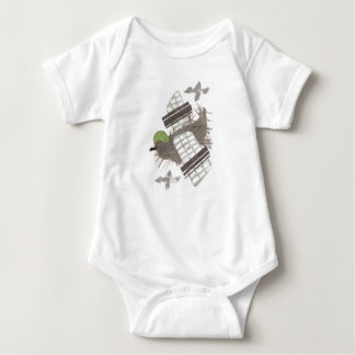 Pigeon Plane No Background Babygro Baby Bodysuit
