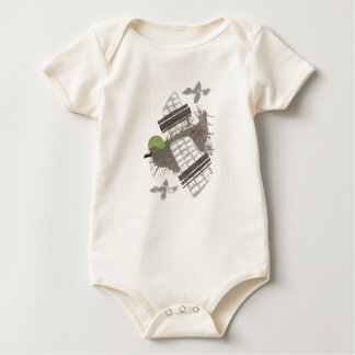 Pigeon Plane No Background Organic Babygro Baby Bodysuit
