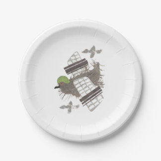 Pigeon Plane Paper Plate