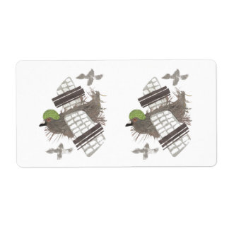 Pigeon Plane Return Address Labels