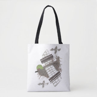 Pigeon Plane Tote Bag