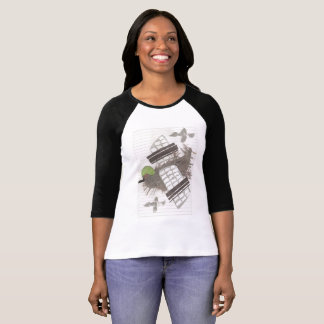 Pigeon Plane Women's Three Quarter Length Top