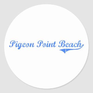 Pigeon Point Beach California Classic Design Round Stickers