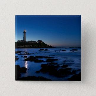 Pigeon Point Lighthouse   Half Moon Bay, Ca 15 Cm Square Badge