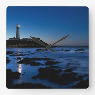 Pigeon Point Lighthouse   Half Moon Bay, Ca Square Wall Clock