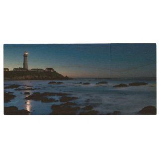 Pigeon Point Lighthouse | Half Moon Bay, Ca Wood USB 2.0 Flash Drive