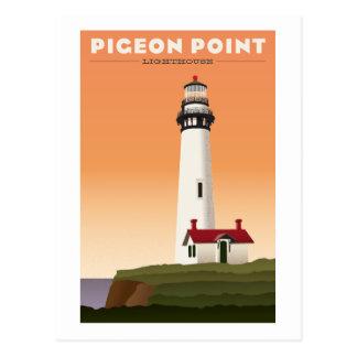 Pigeon Point Lighthouse Vintage travel postcard