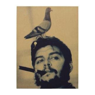 Pigeon Poo Che Guevara Wood Canvas