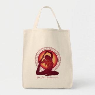 Pigeon Pose Tote Bags