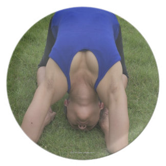 Pigeon pose plate