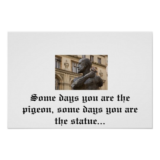 Pigeon & Statue poster
