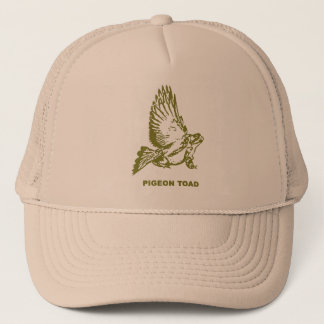 Pigeon toad trucker hat