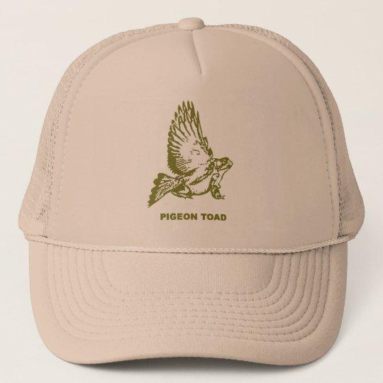 Pigeon toad trucker hat