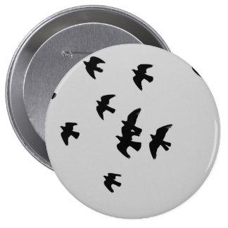 pigeons 10 cm round badge