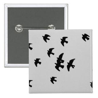 pigeons 15 cm square badge
