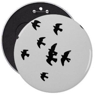 pigeons 6 cm round badge