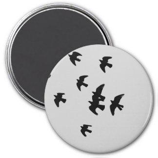 pigeons 7.5 cm round magnet