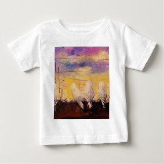 Pigeons at sunset baby T-Shirt