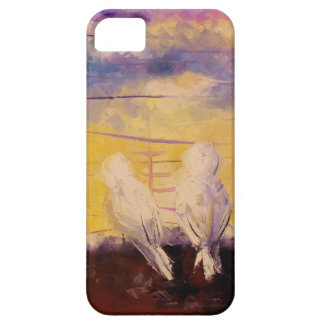 Pigeons at sunset barely there iPhone 5 case