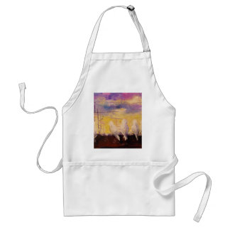 Pigeons at sunset standard apron