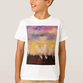 Pigeons at sunset T-Shirt