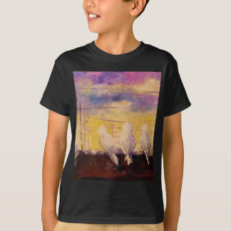 Pigeons at sunset T-Shirt