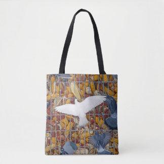 Pigeons Get the Corn Tote Bag