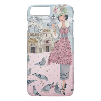 Pigeons Girl in Venice Italy | Iphone 7 plus Case
