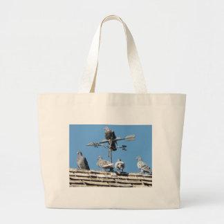 pigeons jumbo tote bag