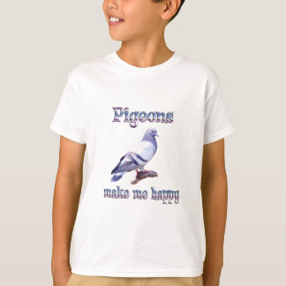 Pigeons Make Me Happy T-Shirt
