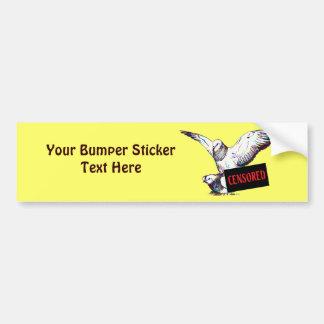 Pigeons Mating:  Censored! Bumper Sticker